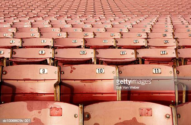 stadium seats - pasadena california stock pictures, royalty-free photos & images