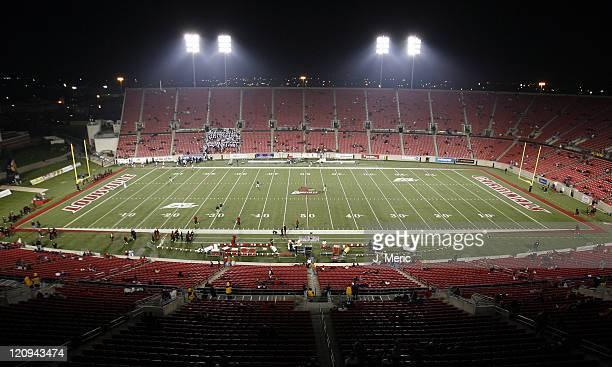 Stadium shot of Papa John's Cardinal Stadium in Louisville Kentucky on November 18 2006