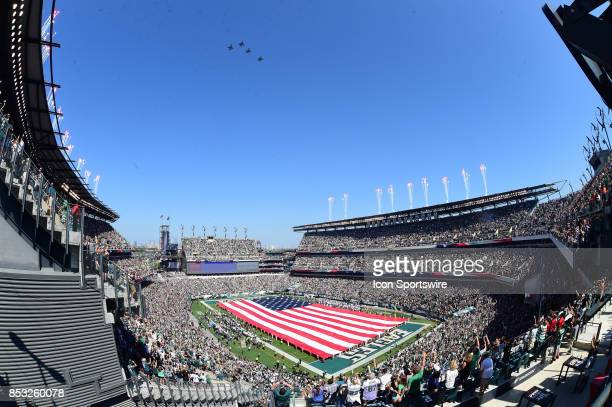 Stadium veiw of Lincoln Financial Field during a fly over during a NFL football game between the New York Giants and the Philadelphia Eagles on...