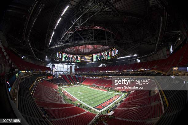 A stadium view before the University of Georgia takes on the University of Alabama during the College Football Playoff National Championship held at...