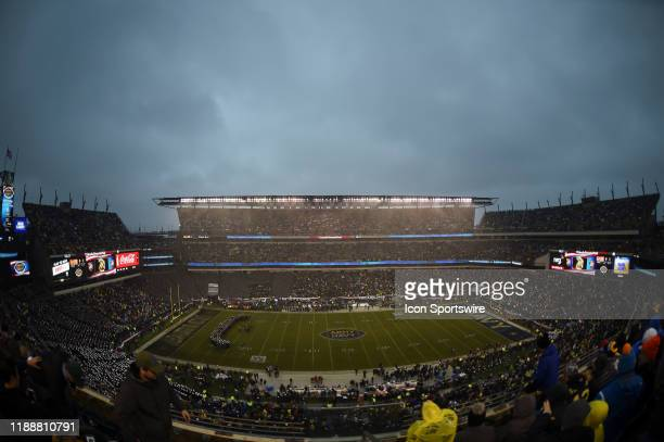 Stadium View of storm clouds during the ArmyNavy game on December 14 2019 at Lincoln Financial Field in Philadelphia PA