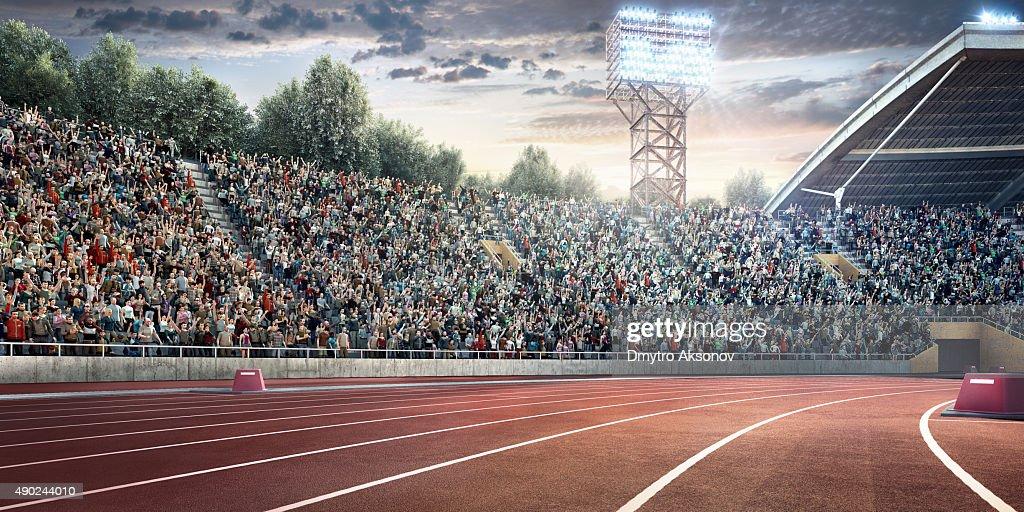 . stadium with running tracks : Stock Photo