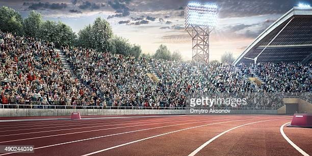 . stadium with running tracks