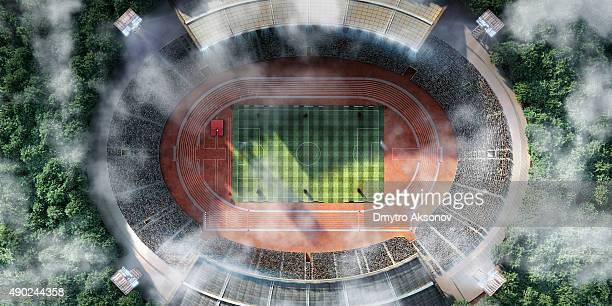stadium with running tracks