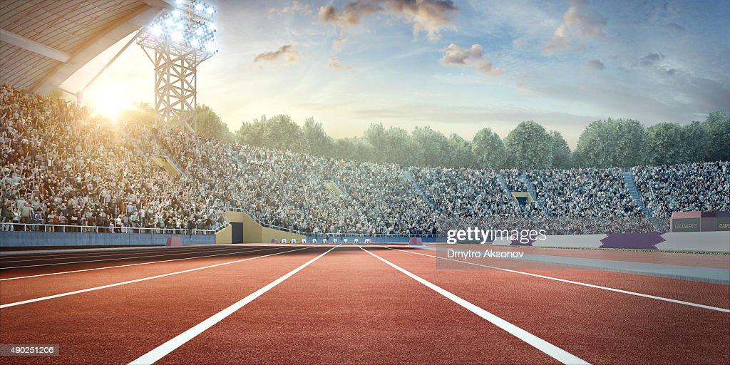 stadium with running tracks : Stock Photo