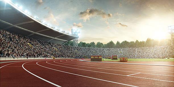 Stadium With Running Tracks Wall Art
