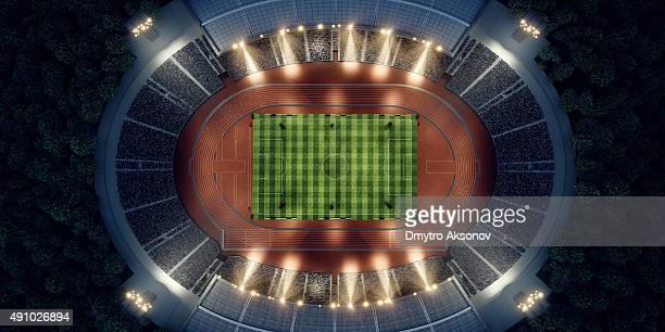 Olympic stadium mit running-Titel
