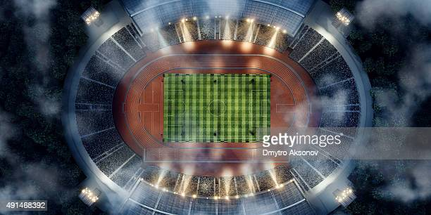 . stadium with running tracks - scoring stock pictures, royalty-free photos & images