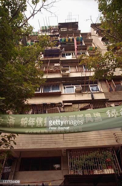 Stadt Wuhan Provinz Hubei China Asien Reise Rundreise Haus Wohnung Schriftzug Logo Banner SA