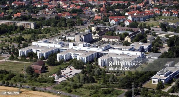 Stadtansicht Ansicht Luftbild Luftaufnahme Dessau DessauRoßlau Dessau Alten Krankenhaus Städtisches Klinikum Dessau