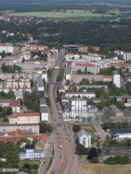 Stadtansicht Ansicht Luftbild Luftaufnahme Dessau DessauRoßlau Askanische Straße Altener Straße