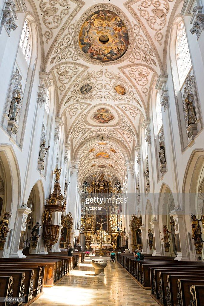Stadtpfarrkirche Maria - Landsberg Am Lech : Stock Photo