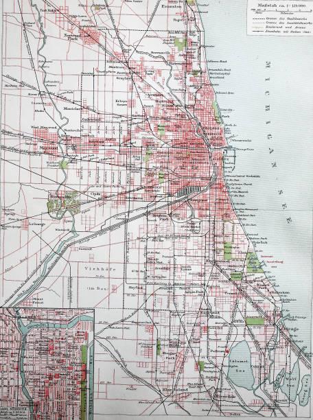 Chicago America Map.Stadtplan Von Chicago Pictures Getty Images