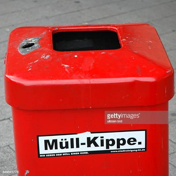 Stadtreinigung Hamburg Dienstleister im Bereich Abfallwirtschaft Mülleimer mit coolen Sprüchen beklebt