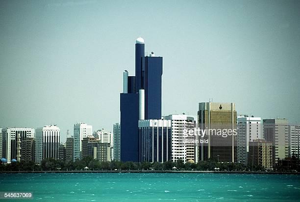 Stadtsilhouette mit Bai von Abu Dhabi 1995