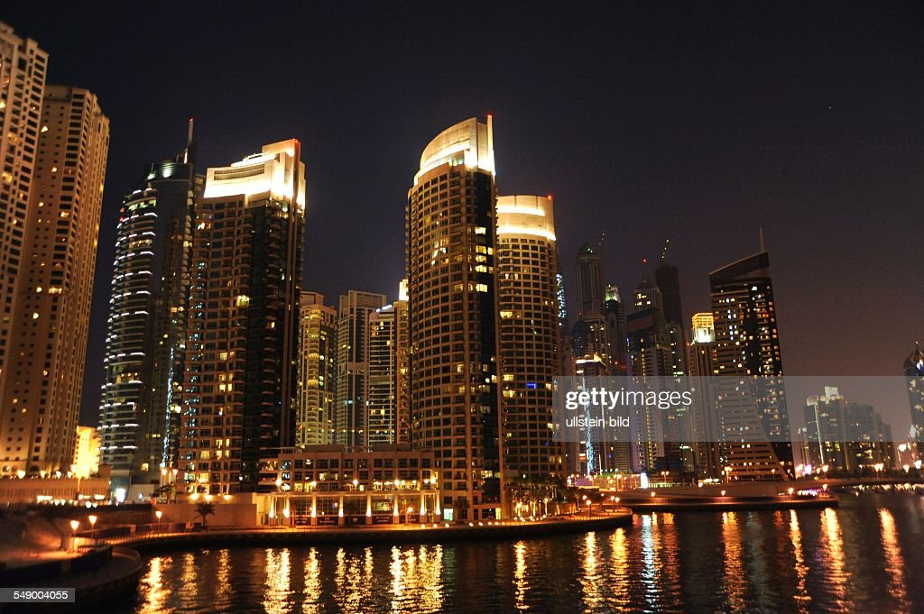 Dubai Marina by night : News Photo