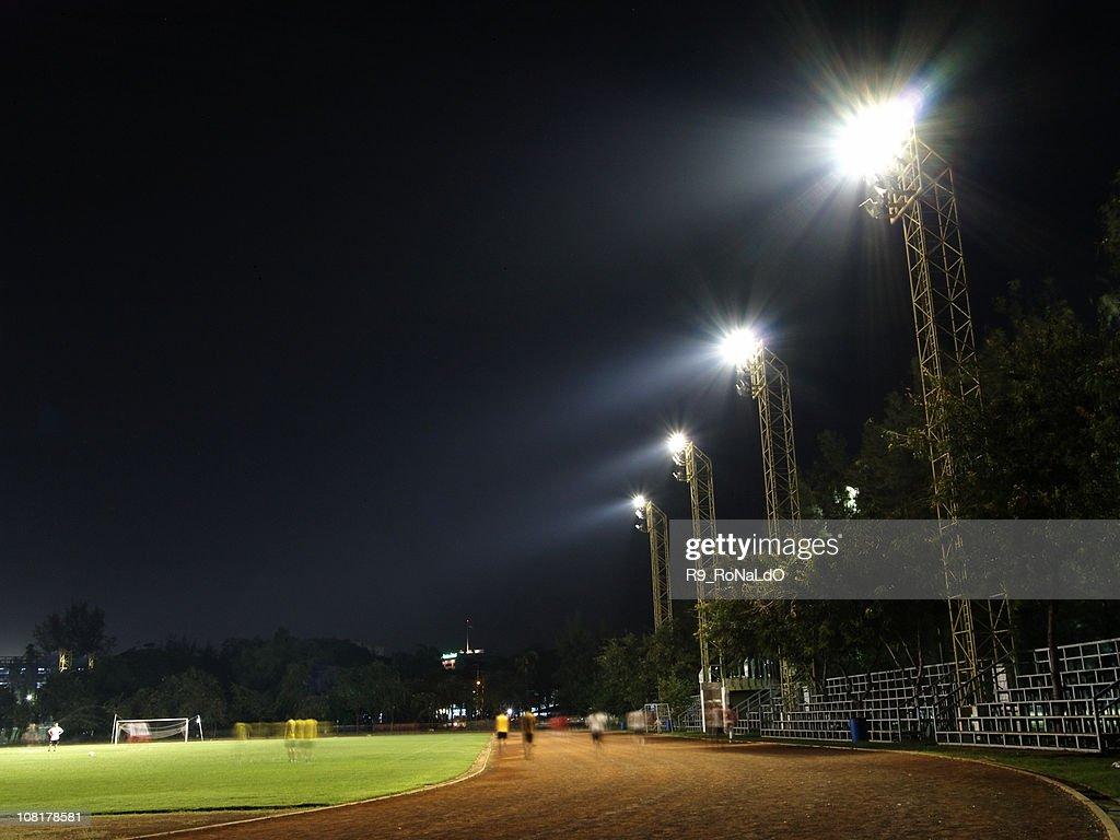 Staduim at night : Stock Photo