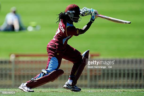 Stafanie Taylor of West Indies bats during the women's International Twenty20 match between Australia and the West Indies at North Sydney Oval on...