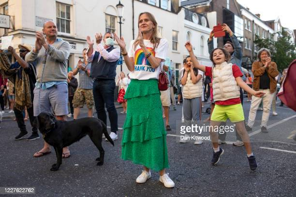 """Staff and members of the public take part in the weekly """"Clap for Our Carers"""" event at Chelsea & Westminster Hospital on May 28, 2020 in London,..."""