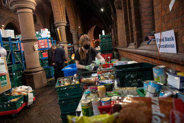 GBR: Food Donations Are Delivered By St Margaret's Church In South London
