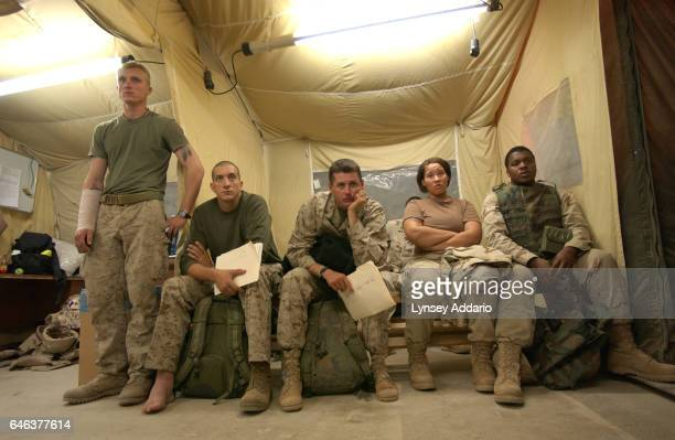 Staff at Balad Air Force Base Iraq on November 15 2004 Hundreds of wounded soldiers have come through the military hospital for emergency treatment...