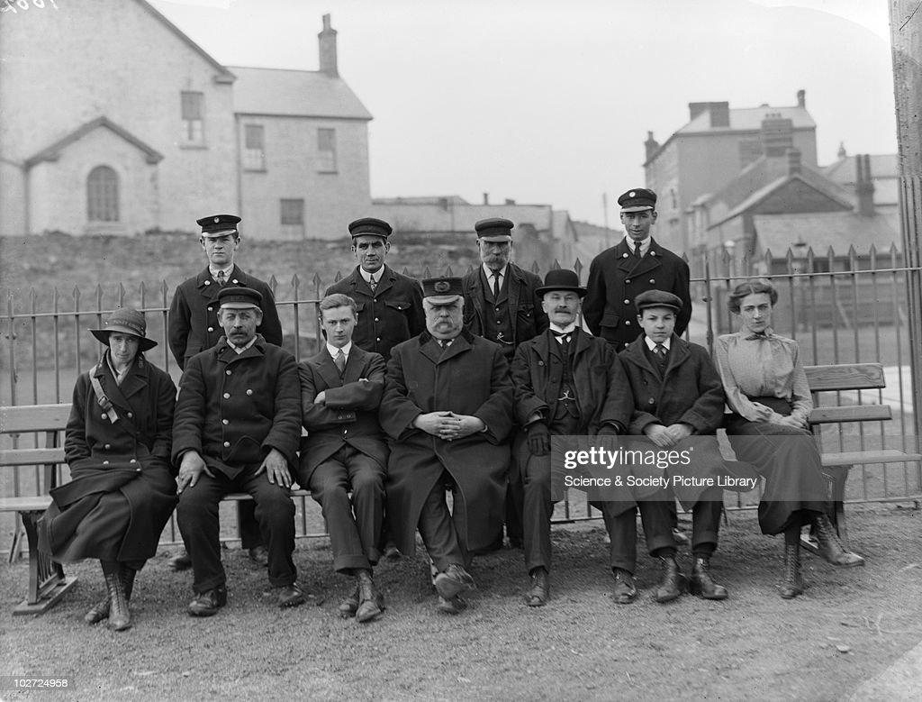 GWR Staff at Porthcawl New Station c.1915. : News Photo