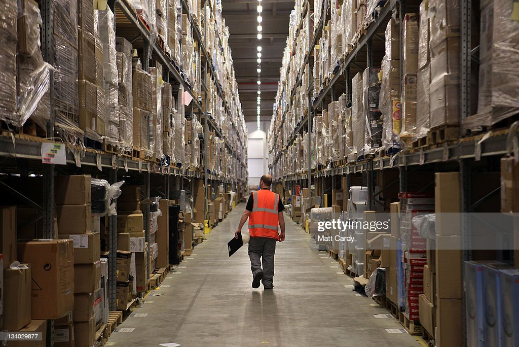 Amazon Warehouse Employees Prepare For Their Busiest Time Of Year : News Photo