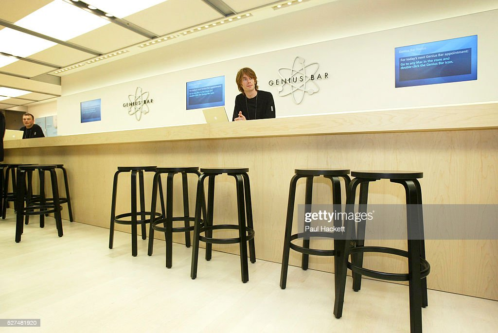 Staff at the Genius Bar at the Apple Store on Regent Street, London