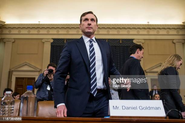 Staff lawyer Daniel Goldman, representing the majority Democrats, arrives following a break during a House Judiciary Committee hearing in the...