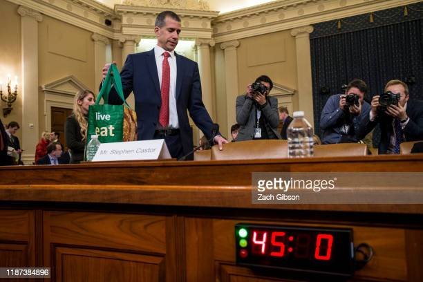 Staff lawyer Stephen Castor representing the minority Republicans arrives following a break during a House Judiciary Committee hearing in the...