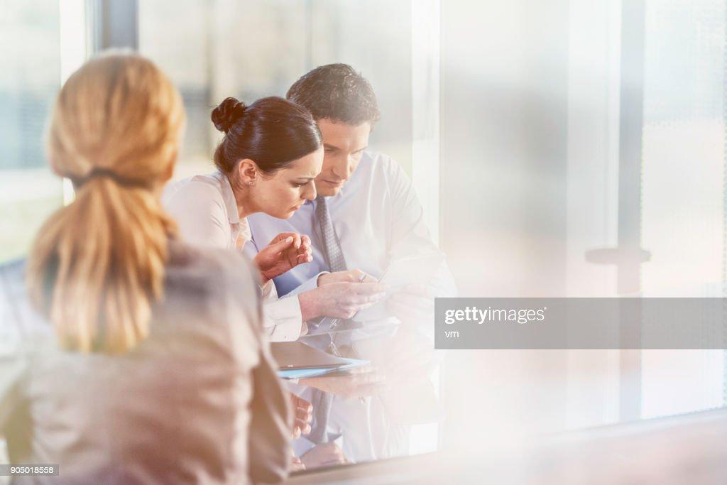 Staff meeting : Stock Photo