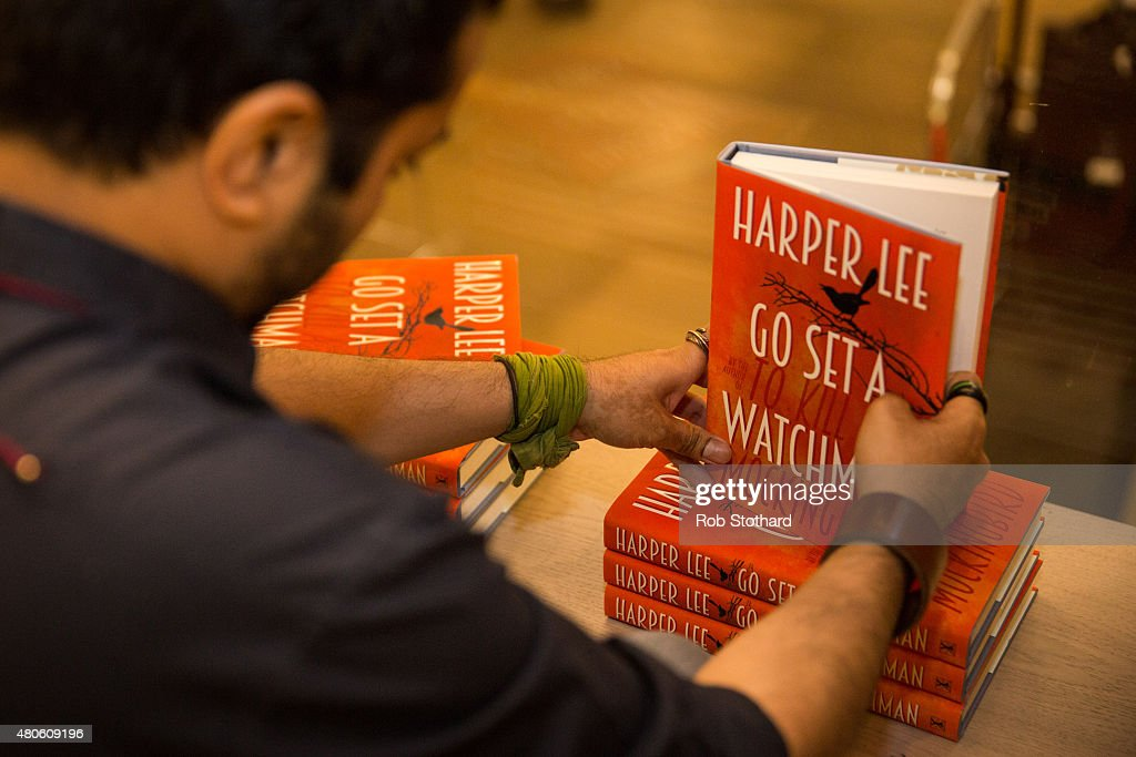 A staff member at Foyles book shop prepare to sell copies of 'Go Set A Watchman' by Harper Lee, available shortly after midnight, on July 13, 2015 in London, England. Go Set a Watchman was written in the mid-1950s before Lee's Pulitzer Prize winning novel To Kill a Mockingbird, which was published in 1960. The original manuscript was then lost for nearly half a century years, discovered by Harper Lee's lawyer in late 2014. The novel goes on sale on July 14. The Go Set a Watchman