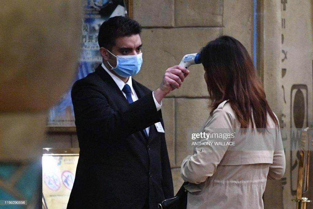 TOPSHOT-MACAU-HEALTH-VIRUS : News Photo