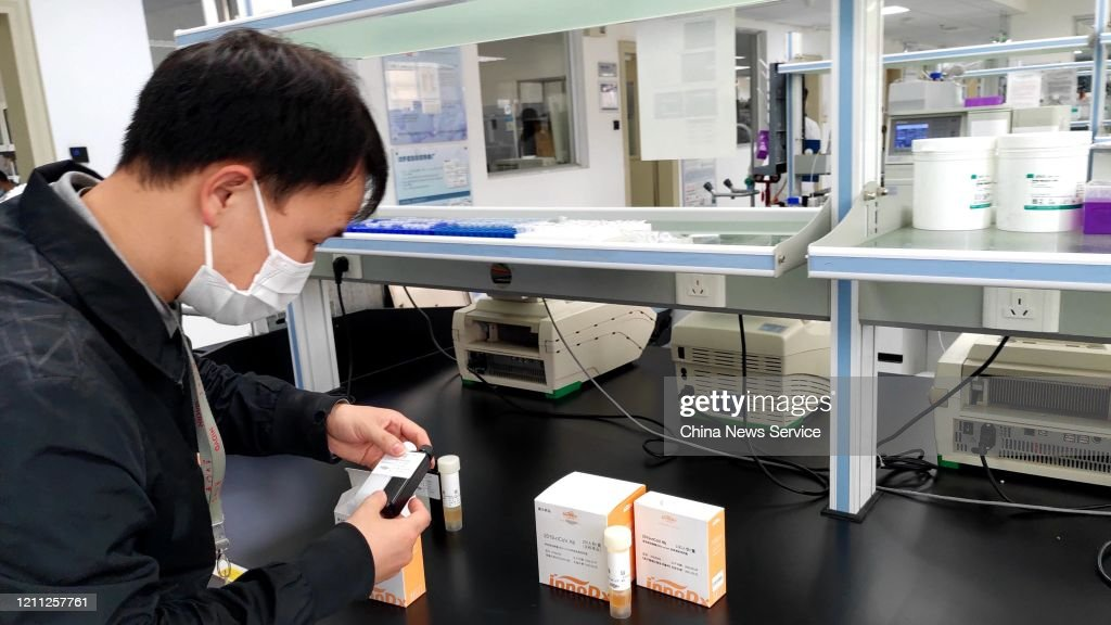 China Approves 29-minute Testing Kit For COVID-19 Antibody : News Photo
