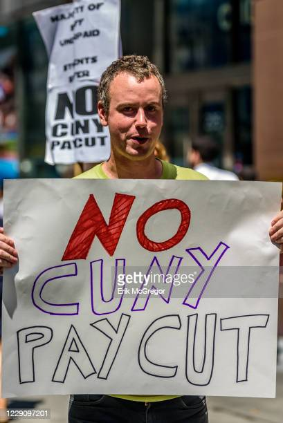 CUNY staff members are protesting the exploitation of adjunct faculty by CUNY as they are denied office hours and equal pay for equal work and often...