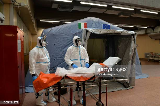 Staff members assigned for Coronavirus tests at the Molinette hospital in Turin Italy registered a 25% surge in coronavirus cases in 24 hours with...