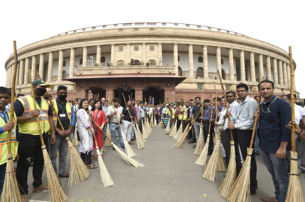 IND: Swachh Bharat Abhiyan At Parliament Premises