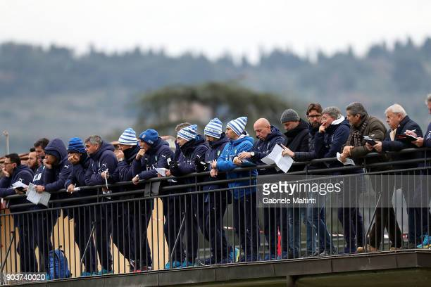 Staff of the National Youth FIGC 'Torneo dei Gironi' Italian Football Federation U16 Tournament at Coverciano on January 11 2018 in Florence Italy
