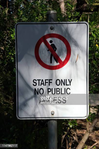'Staff only. No public access' warning sign