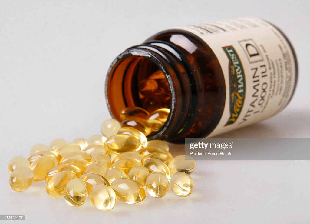 Vitamin D capsules. : News Photo