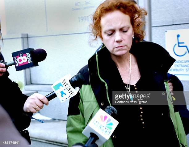 Staff Photo by Doug Jones Friday January 17 2003 Tammy Westbrook mother of Jeffrey 'Russ' Gorman leaves the courthouse after his conviction for...