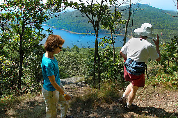 Melissa Derbyshire Left And A Fellow Hiker Admire View Of Mirror Lake From