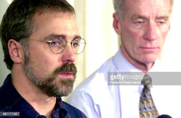 Staff Photo by Doug Jones Tue Oct 23 2001 A tearful Don Jenkins stepfather of 25 year old Amy St Laurent missing since Saturday night from Portland's...