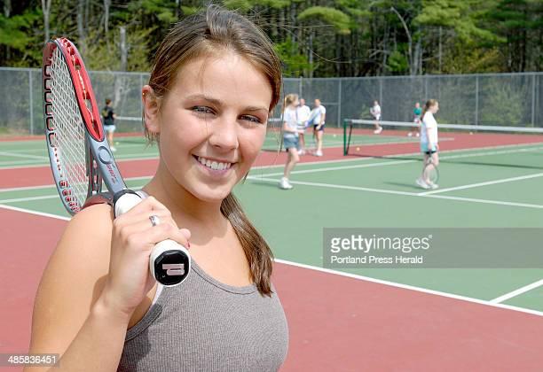 Tuesday May 13 2008 Our high school spotlight is on Hallsey Leighton a junior at Falmouth High School top gun girl tennis player