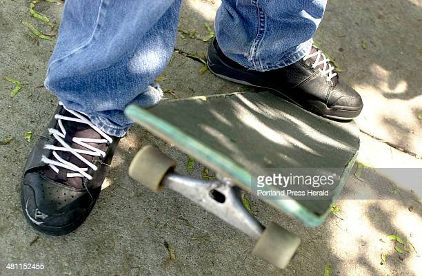 Staff Photo by Faith Cathcart Friday June 14 2002 Robert Walsh says he has been skateboarding for four years He and other Peaks Island skaters would...