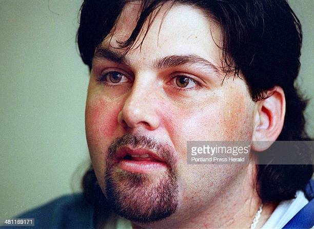 Staff Photo by Gordon Chibroski Thu Jul 27 2000 Christopher Coughlin an inmate at the Windham Correctional Center talks about the availability and...