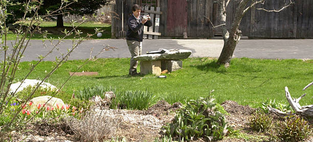 Pat Lewis Of Brothers Natural Maine Lawns Labels A Mixture Soil Samples He