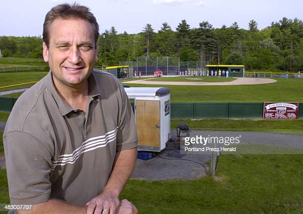 Staff Photo by Gordon Chibroski Thursday June 15 2006 Mark Cobb webmaster and VP of Windham Little League is surrounded by the Lowell Athletic Fields...