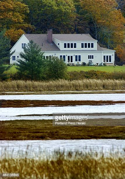 Staff Photo by Gordon Chibroski Thursday November 3 2005 This house built by Ed Dougherty and his wife Marva Nesbit used to sit on Sherman Lake with...