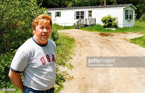 Staff Photo by Gordon Chibroski Tuesday June 3 2003 Ron Harmon neighbor of Matthew Perry shooter of Christopher Denis after an intusion says he heard...